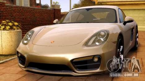 Porsche Cayman 981 S v2.0 para GTA 4 vista direita