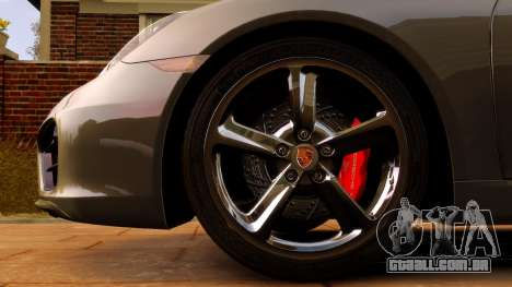 Porsche Cayman 981 S v2.0 para GTA 4 vista interior