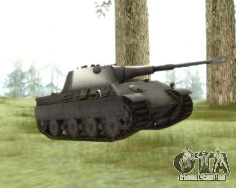 Pzkpfw V Panther II para GTA San Andreas esquerda vista