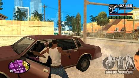 Pistola semi-automática para GTA San Andreas por diante tela