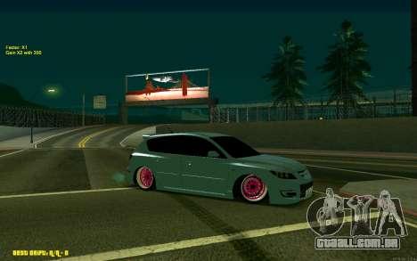 Mazda 3 para GTA San Andreas esquerda vista