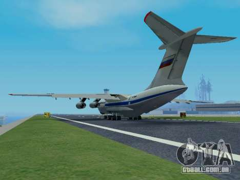 Il-76td v 1.0 para GTA San Andreas vista traseira