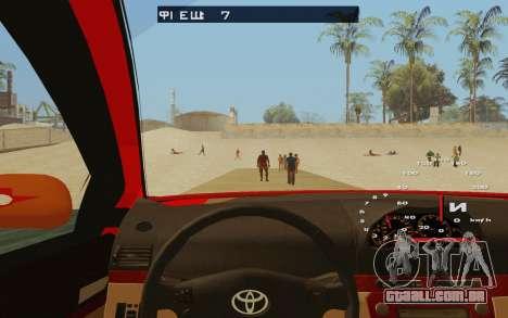 Toyota Vios Taxi Costa Rica para GTA San Andreas vista interior