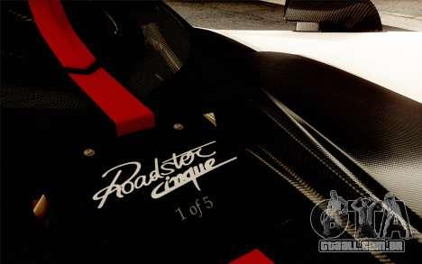 Pagani Zonda Cinque para o motor de GTA San Andreas