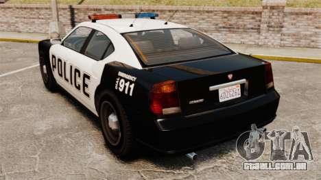 GTA V Buffalo Police para GTA 4 traseira esquerda vista
