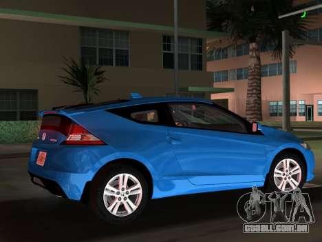 Honda CR-Z 2010 para GTA Vice City vista superior