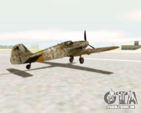 Bf-109 G6 para GTA San Andreas esquerda vista