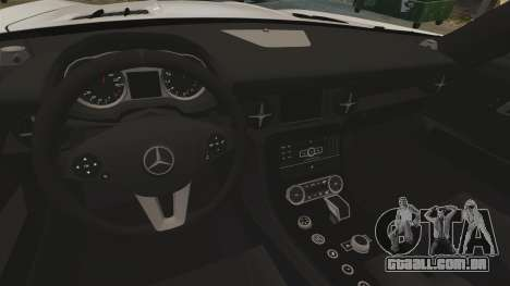 Mercedes-Benz SLS AMG Black Series 2014 para GTA 4 vista lateral