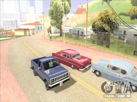 Reflexão única de ENB em máquinas para GTA San Andreas quinto tela