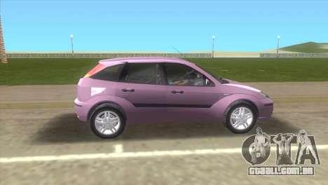 Ford Focus SVT para GTA Vice City deixou vista