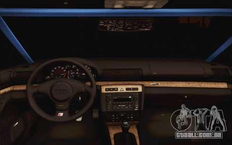 Audi S4 Hellaflush para GTA San Andreas vista direita