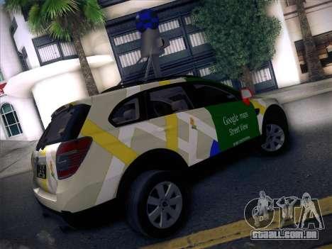 Chevrolet Google Street View Chile para GTA San Andreas traseira esquerda vista