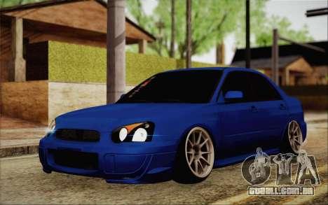 Subaru Impreza JDM para GTA San Andreas vista traseira
