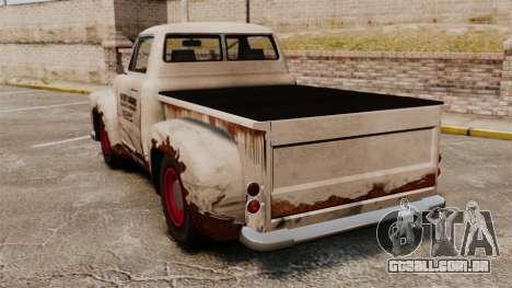Caminhão velho enferrujado para GTA 4 traseira esquerda vista