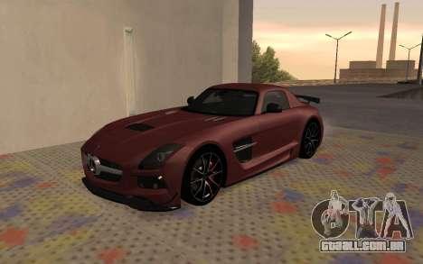 Mercedes-Benz SLS AMG 2013 Black Series para GTA San Andreas esquerda vista