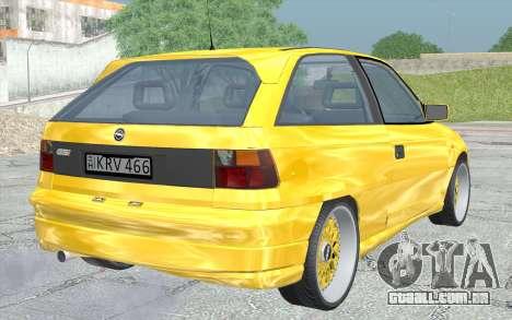Opel Astra F GSI BBS Style para GTA San Andreas esquerda vista