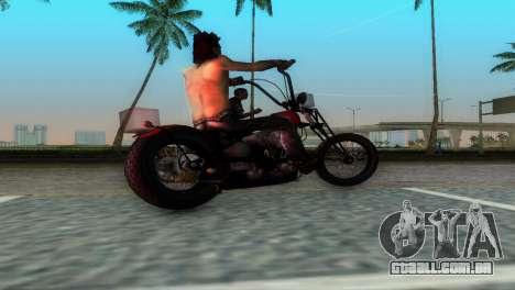 Harley Davidson Shovelhead para GTA Vice City vista direita