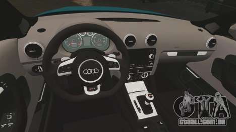 Audi RS3 Sportback [Typ 8PA] 2011 para GTA 4 vista interior