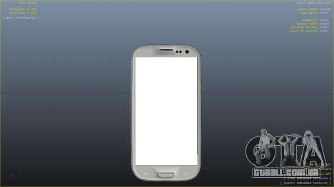 Samsung Galaxy S3 para GTA 4 por diante tela