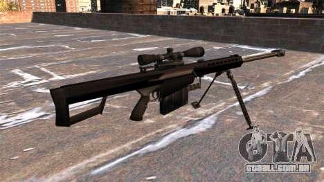 Rifle de sniper Barrett M82A1 luz cinqüenta para GTA 4 segundo screenshot