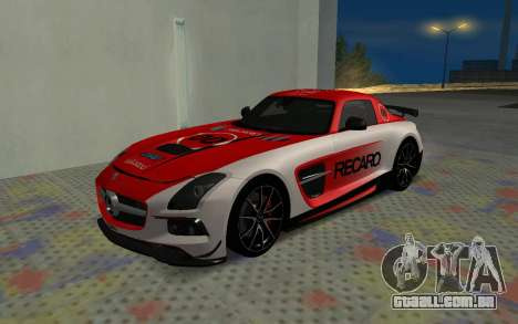 Mercedes-Benz SLS AMG 2013 Black Series para GTA San Andreas vista interior