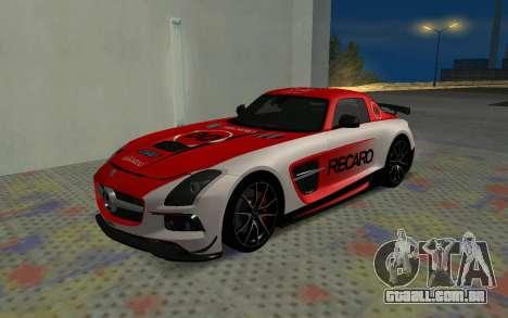 Mercedes-Benz SLS AMG 2013 Black Series para GTA San Andreas vista interior