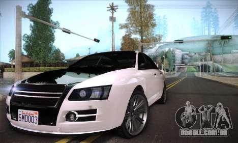 GTA V Tailgater para GTA San Andreas vista superior