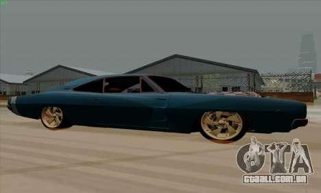 Dodge Charger 1969 Big Muscle para GTA San Andreas traseira esquerda vista