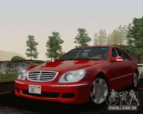 Mercedes-Benz S600 Biturbo 2003 para GTA San Andreas vista direita