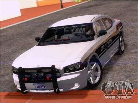 Dodge Charger San Andreas State Trooper para GTA San Andreas vista inferior