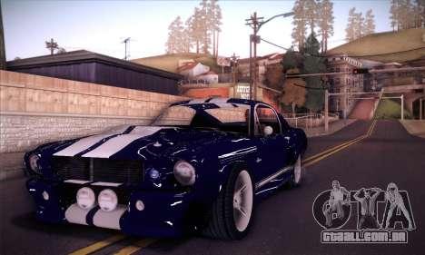 Shelby GT500 E v2.0 para GTA San Andreas vista direita