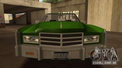 Esperanto HD from GTA 3 para GTA San Andreas traseira esquerda vista