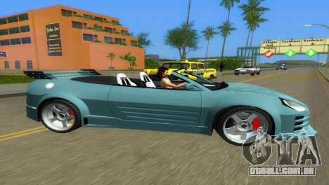 Mitsubishi Eclipse GT 2001 para GTA Vice City deixou vista