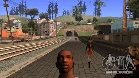 A câmera em GTA V para GTA San Andreas terceira tela
