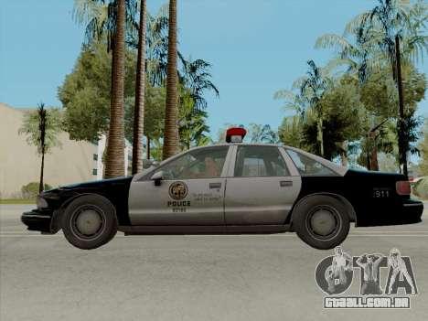 Chevrolet Caprice LAPD 1991 [V2] para GTA San Andreas esquerda vista