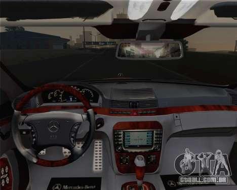 Mercedes-Benz S600 Biturbo 2003 para GTA San Andreas vista superior