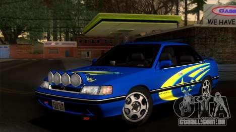 Subaru Legacy 2.0 RS (BC) 1989 para GTA San Andreas vista superior