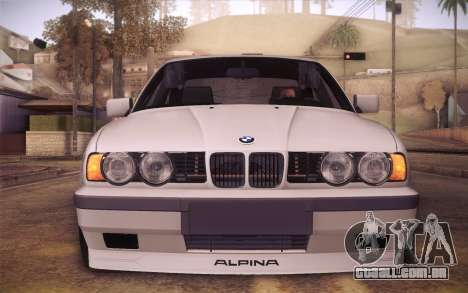 BMW E34 Alpina para GTA San Andreas vista direita