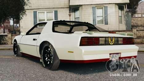 Pontiac Trans Am 1982 Beta v0.1 para GTA 4 esquerda vista