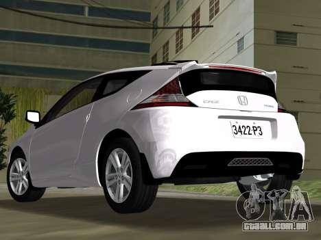 Honda CR-Z 2010 para GTA Vice City vista interior