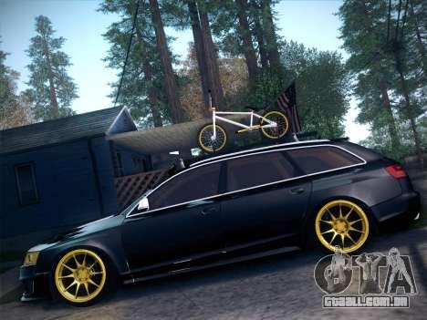 Audi Avant RS6 LowStance para GTA San Andreas vista direita