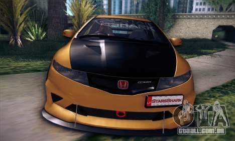 Honda Civic Type R Mugen para GTA San Andreas vista inferior