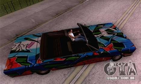 O trabalho de pintura para a savana para GTA San Andreas traseira esquerda vista