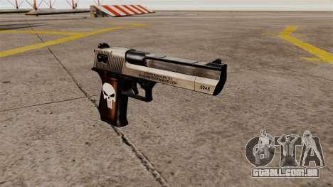 Pistola semi-automática de Desert Eagle Punisher para GTA 4