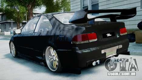 Honda Civic FnF para GTA 4 esquerda vista