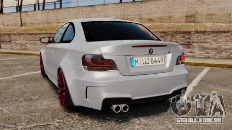 BMW 1 M 2011 para GTA 4 traseira esquerda vista