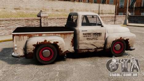 Caminhão velho enferrujado para GTA 4 esquerda vista