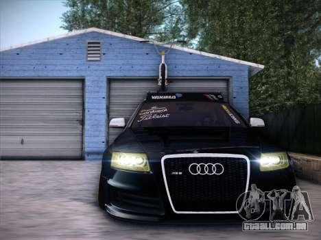 Audi Avant RS6 LowStance para GTA San Andreas esquerda vista