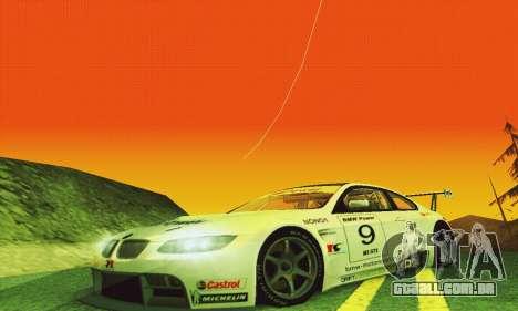 BMW M3 GT2 E92 ALMS para GTA San Andreas vista interior
