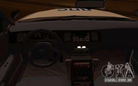 Ford Crown Victoria STR para GTA San Andreas vista direita